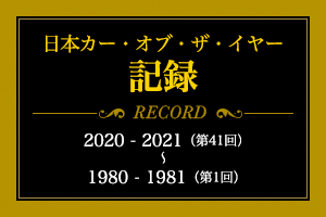 日本カー・オブ・ザ・イヤー記録